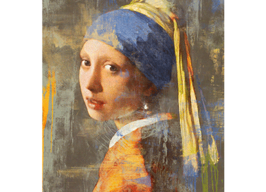 Décoration murale - MONDiART, AluArt, Girl with a pearl earring - MONDIART ART & DECORATIONS