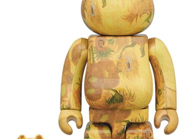 Sculptures, statuettes et miniatures - Bearbrick 100 + 400% V. Van Gogh - Tournesols - ARTOYZ