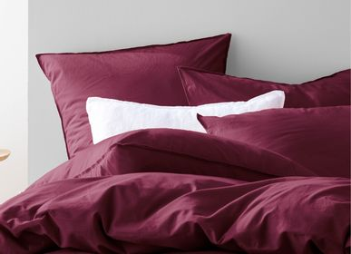 Bed linens - Washed Softness - BLANC CERISE