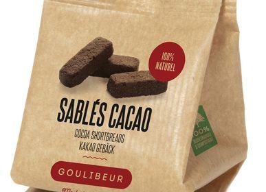 Cookies - Mini paper bag brut cocoa lingot shortbreads  - GOULIBEUR