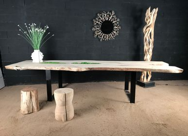 Dining Tables - driftwood and burnt wood table - DECO-NATURE