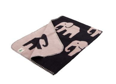 Throw blankets - Super soft blanket for baby and kids with Elephants - black - FABGOOSE