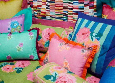 Cushions - Nizam Acid Green Pillow Case 60x60 cm - LISA CORTI