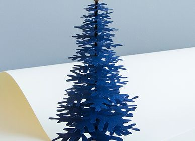 Christmas table settings - Navy Blue Christmas tabletop paper ornaments - FABGOOSE