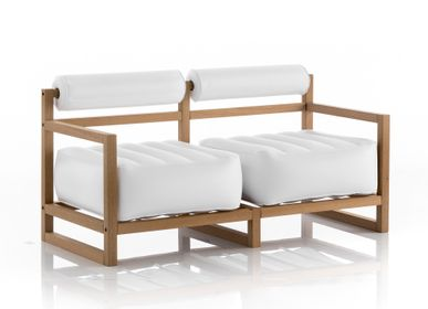 Sofas for hospitalities & contracts - YOKO WOOD Sofa White - MOJOW