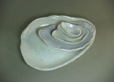 Formal plates - IRIDESCENT OYSTER  - MALIFANCE
