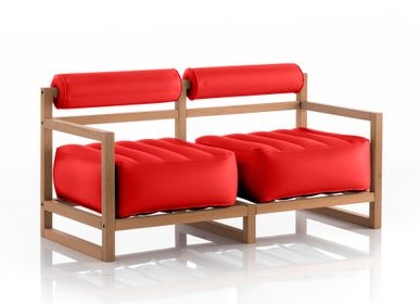 sofas - YOKO WOOD Sofa Red - MOJOW