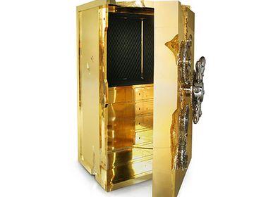 Unique pieces - MILLIONAIRE GOLD Luxury Safe - BOCA DO LOBO