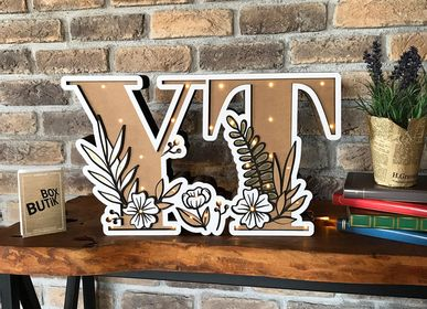 Wall decoration - Y & T INITIALS - BOX BUTIK