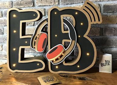 Wall decoration - E & B INITIALS - BOX BUTIK