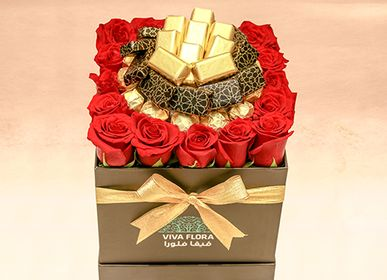 Gifts - Everlasting Love : Roses & Chocolates - VIVA FLORA