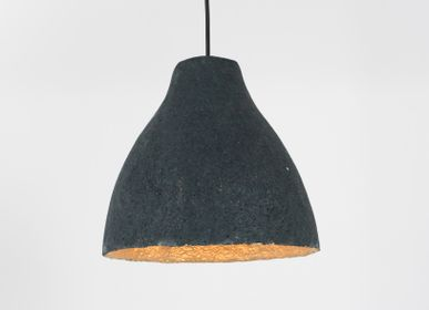 "Hanging lights - PULP PAPER LAMPSHADES ""BELL"" - 100% RECYCLED MAGAZINE PAPER - MAHATSARA"