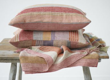 Fabric cushions - Red stripe cushion - ML FABRICS