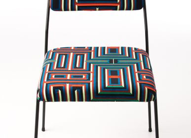 Chairs for hospitalities & contracts - Impala Chair & Coralie Prévert Fabric - AIRBORNE