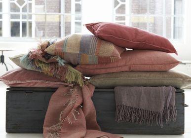 Throw blankets - Red stripe plaid - ML FABRICS