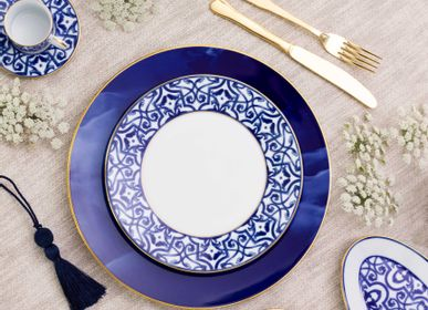 Assiettes de réception  - Blue Legacy assiette en porcelaine - PORCEL
