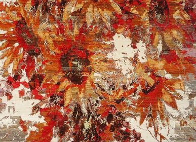 Design carpets - Wishing you a great day!, ArtWork, original handknotted carpet - CREATIVE DESIGNS BY MICHELE
