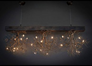 Ceiling lights - Roots Large Bar 3  - F+M FOS