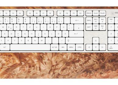 Set de bureaux - Clavier d'ordinateur - Burl de noyer - GEBR. HENTSCHEL GBR