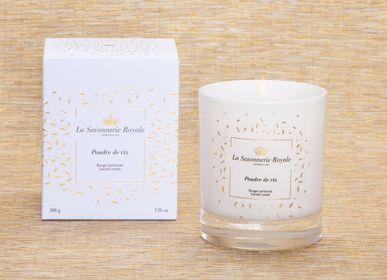 Bougies - Bougie parfumée Poudre de riz 200g - LA SAVONNERIE ROYALE