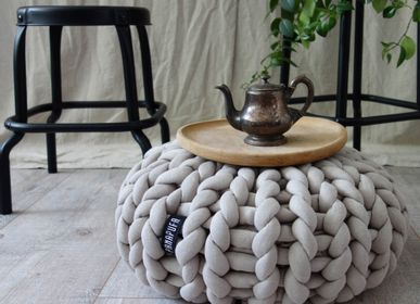 Children's sofas and lounge chairs - Big cotton pouf - PANAPUFA