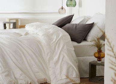 Linge de lit - Satin de coton lavé - Linge de lit Douceur - DORAN SOU