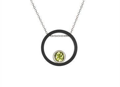 Bijoux - Collier Cercle Carbone  - INSOLITE JOAILLERIE