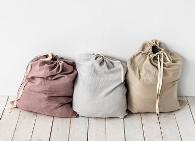 Bath linens - Big linen laundry bag in various colors - MAGIC LINEN