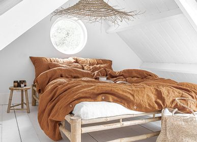 Bed linens - Linen duvet cover in Cinnamon - MAGIC LINEN