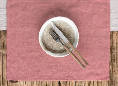 Sets de table - Set de table en lin couleur rose rouille - MAGIC LINEN