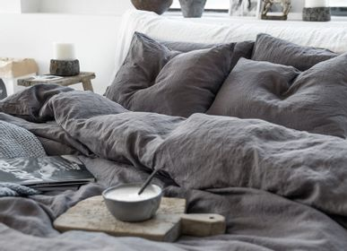 Bed linens - Linen bedding set in Charcoal Gray - MAGIC LINEN