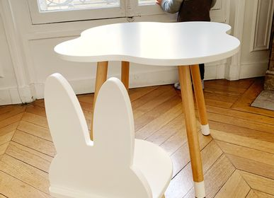 Tables and chairs for children - Cloud Mini Desk & Bunny Chair Set - BOOGY WOODY