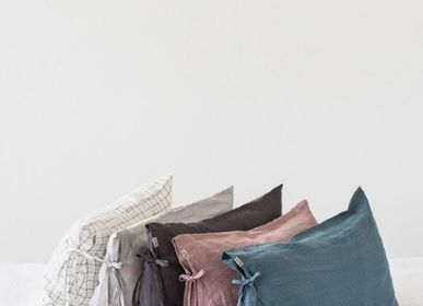 Linge de lit - Linen pillowcase with skinny ties in various colors - MAGIC LINEN