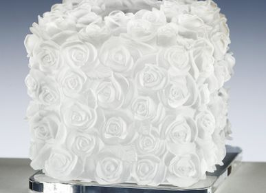 Towel racks - TOWEL BOX ROSES - CRISTAL DE PARIS