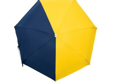 Apparel - Bicolour micro-umbrella - yellow & navy - Sydney  - ANATOLE
