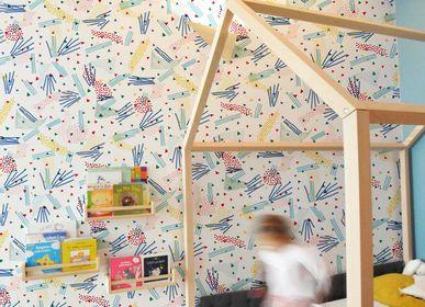 Papiers peints - Papier peint Confettis sur mesure & personnalisable - CAMILLE PIANEL MOTIFS