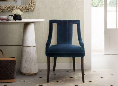 Chaises pour collectivités - CAYO Classic Blue Chaise de salle à manger - Couleur Pantone de l'année 2020 - BRABBU DESIGN FORCES