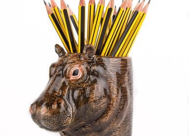 Ceramic - Hippo pen pot - QUAIL DESIGNS