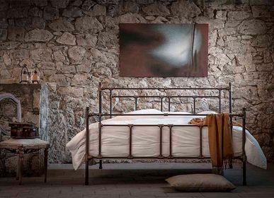 Lits - Industrial iron bed of blacksmith style - Model Armonia - VOLCANO - HANDMADE IRON BEDS