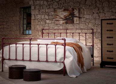 Beds - Industrial desing Handmade iron bed - Model Iris - VOLCANO - HANDMADE IRON BEDS