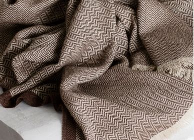 Throw blankets - Sustainable baby alpaca wool // The Herringbone Collection - ELVANG DENMARK A/S