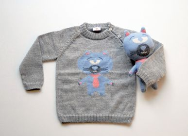 "Apparel - ""HUGO the cat"" sweater & toy - SOL DE MAYO"