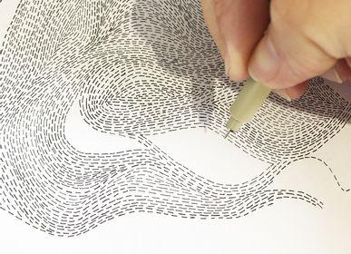 Papiers peints - Papier peint unique, sur mesure & personnalisable - CAMILLE PIANEL MOTIFS