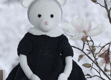Soft toy - Alice - crochet mouse - LEGGYBUDDY