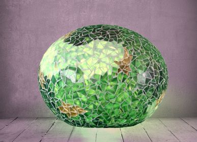 "Objets design - Lampe ""Dream"", vert et or - ATELIER DE MOSAIQUE L.TORNO"