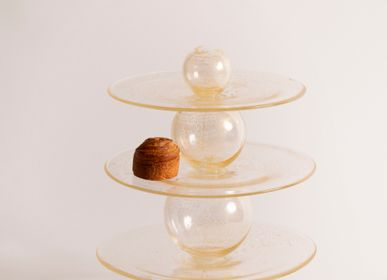 Art glass - Particules élémentaires (Elementary Particles) - Cake stand - DRAGONFLY