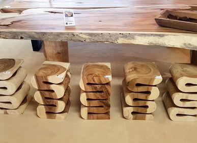 Tabourets - Tabourets en bois | Tabourets en bois suar - XYLEIA NATURAL INTERIORS