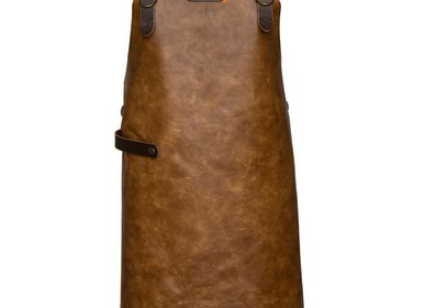 Barbecues - Xapron leather (bbq) aprons  - XAPRON - FOUR DELIVITA