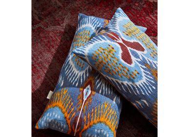 Fabric cushions - Artemis Dots Double Sided Ikat Cushion  - HERITAGE GENEVE