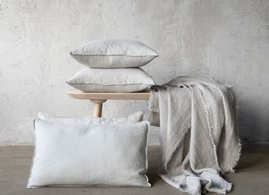 Throw blankets - Washed Waffle Linen Throws - LINENME
